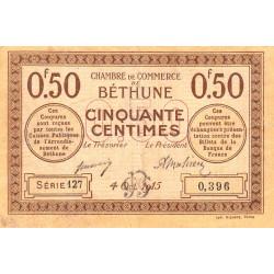 Béthune - Pirot 26-1 - 50 centimes - Série 127 - 04/10/1915 - Etat : TB+