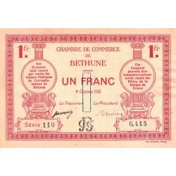 Béthune - Pirot 26-6 - 1 franc - Série 110 - 04/10/1915 - Etat : TTB