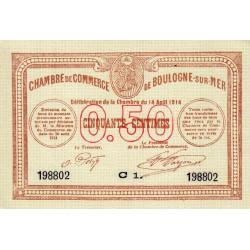 Boulogne-sur-Mer - Pirot 31-11 - Série C1 - 50 centimes - 14/08/1914 - Etat : NEUF
