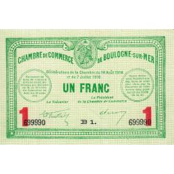 Boulogne-sur-Mer - Pirot 31-19 - Série B1 - 1 franc - 07/07/1916 - Etat : NEUF