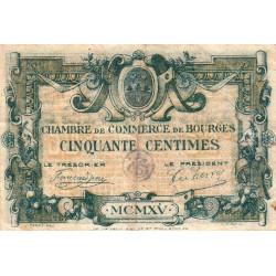 Bourges - Pirot 32-1 - Série A - 50 centimes - 1915 - Etat : TB-