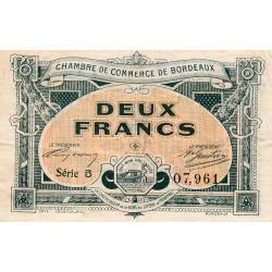 Bordeaux - Pirot 30-23 - 2 francs- Série 5 - 1917 - Etat : TTB