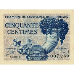 Bordeaux - Pirot 30-28 - 50 centimes - Série 17 - 1921 - Etat : NEUF