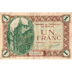 Brive - Pirot 33-2-A - 1 franc - Sans date - Etat : TB