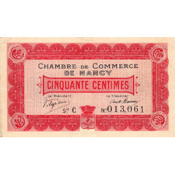 Nancy - Pirot 87-1 - 50 centimes - Etat : TTB