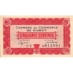 Nancy - Pirot 87-1 - 50 centimes - Série C - 09/09/1915 - Etat : TTB