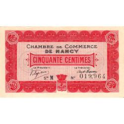 Nancy - Pirot 87-1 - 50 centimes - Série M - 09/09/1915 - Etat : SPL