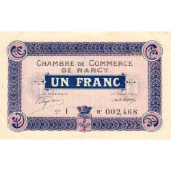 Nancy - Pirot 87-3 - 1 franc - Etat : TTB+