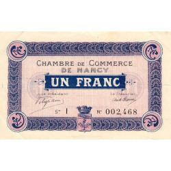 Nancy - Pirot 87-3 - 1 franc - Série I - 09/09/1915 - Etat : TTB+