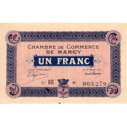 Nancy - Pirot 87-5 - 1 franc - Série EE - 07/12/1915 - Etat : SUP+