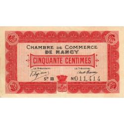 Nancy - Pirot 87-7 - 50 centimes - Série III - 01/01/1916 - Etat : TTB à SUP