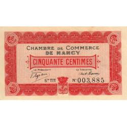 Nancy - Pirot 87-7 - 50 centimes - Série TT - 01/01/1916 - Etat : SUP+