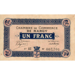 Nancy - Pirot 87-9 - 1 franc - Etat : TTB