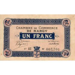 Nancy - Pirot 87-9 - 1 franc - Série 4U - 15/05/1916 - Etat : TTB