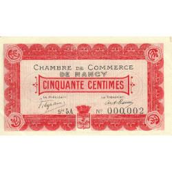 Nancy - Pirot 87-10 - 50 centimes - Série 5A - 01/12/1916 - Petit numéro - Etat : SUP+
