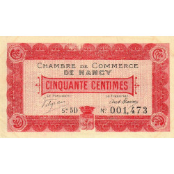 Nancy - Pirot 87-10 - 50 centimes - Etat : SUP