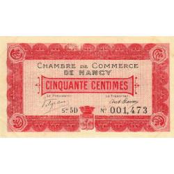 Nancy - Pirot 87-10 - 50 centimes - Série 5D - 01/12/1916 - Etat : SUP