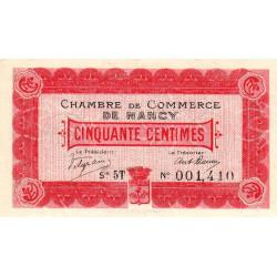 Nancy - Pirot 87-10 - 50 centimes - Série 5T - 01/12/1916 - Etat : NEUF