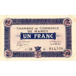Nancy - Pirot 87-11 - 1 franc - Série 5R - 01/12/1916 - Etat : TTB