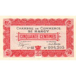 Nancy - Pirot 87-12 - 50 centimes - Etat : SUP+