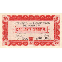 Nancy - Pirot 87-14 - 50 centimes - Etat : TTB+