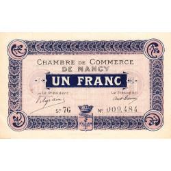 Nancy - Pirot 87-15 - 1 franc - Série 7G - 01/09/1917 - Etat : SUP+