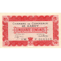 Nancy - Pirot 87-16 - 50 centimes - Série 8C - 01/12/1917 - Etat : TTB+