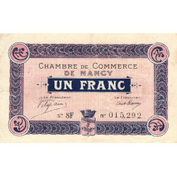 Nancy - Pirot 87-17 - 1 franc - Série 8F - 01/12/1917 - Etat : TTB+