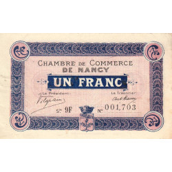 Nancy - Pirot 87-18 - 1 franc - Etat : TTB+