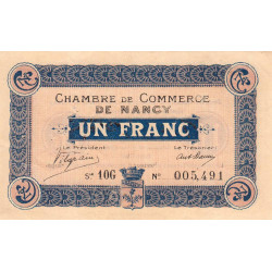 Nancy - Pirot 87-19 - 1 franc - Etat : TTB+