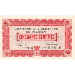Nancy - Pirot 87-20 - 50 centimes - Série 11Q - 01/09/1918 - Etat : SUP+