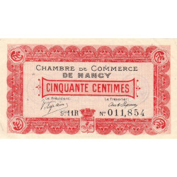 Nancy - Pirot 87-20 - 50 centimes - Série 11R - 01/09/1918 - Etat : SUP