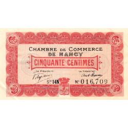 Nancy - Pirot 87-22 - 50 centimes - Série 14N - 11/11/1918 - Etat : SUP