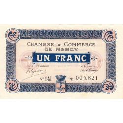 Nancy - Pirot 87-23 - 1 franc - Série 14I - 11/11/1918 - Etat : SPL