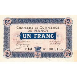 Nancy - Pirot 87-23 - 1 franc - Série 14I - 11/11/1918 - Etat : SUP