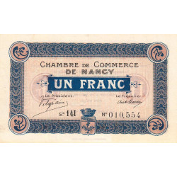 Nancy - Pirot 87-23 - 1 franc - Etat : SPL+