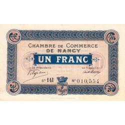 Nancy - Pirot 87-23 - 1 franc - Série 14I - 11/11/1918 - Etat : SPL+