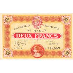 Nancy - Pirot 87-25 - 2 francs - Série A - 11/11/1918 - Etat : SUP+