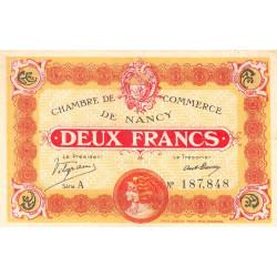 Nancy - Pirot 87-25 - 2 francs - Série A - 11/11/1918 - Etat : SUP
