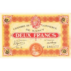 Nancy - Pirot 87-25 - 2 francs - Série B - 11/11/1918 - Etat : SUP à SPL