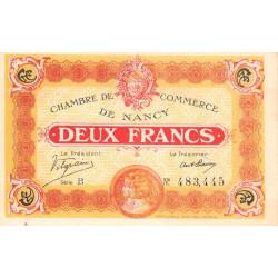 Nancy - Pirot 87-25-B - 2 francs - Etat : SUP+