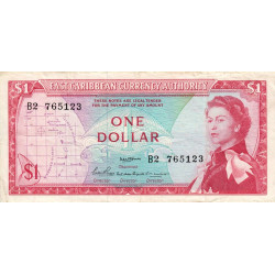 Etats de l'Est des Caraïbes - Pick 13a - 1 dollar - 1965 - Etat : TTB