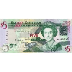 Etats de l'Est des Caraïbes - Pick 47 - 5 dollars - 2008 - Etat : NEUF