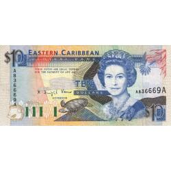 Est Caraïbes - Antigua - Pick 27a - 10 dollars - 1993 - Etat : SUP