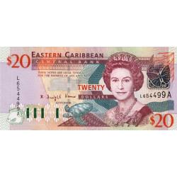Caraïbes Est - Antigua - Pick 44a - 20 dollars - 2003 - Etat : NEUF