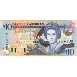 Est Caraïbes - Dominique - Pick 38d - 10 dollars - 2001 - Etat : NEUF