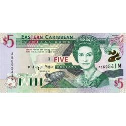 Caraïbes Est - Montserrat - Pick 37m - 5 dollars - 2001 - Etat : NEUF