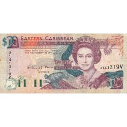 Caraïbes Est - Saint Vincent - Pick 28v - 20 dollars - 1993 - Etat : TB