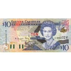 Caraïbes Est - Saint Vincent - Pick 38v - 10 dollars - 2001 - Etat : TTB+