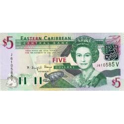 Caraïbes Est - Saint Vincent - Pick 42v - 5 dollars - 2003 - Etat : NEUF